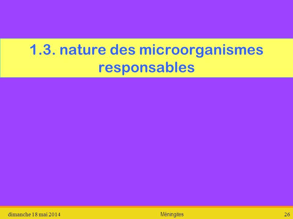 1.3. nature des microorganismes responsables