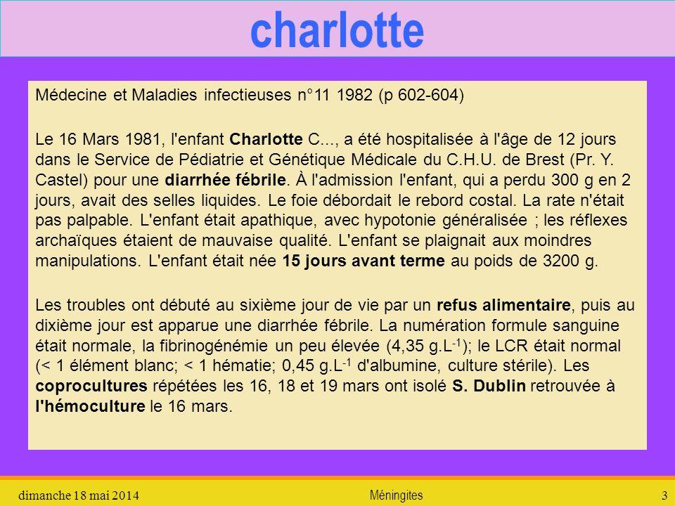charlotte Médecine et Maladies infectieuses n°11 1982 (p 602-604)