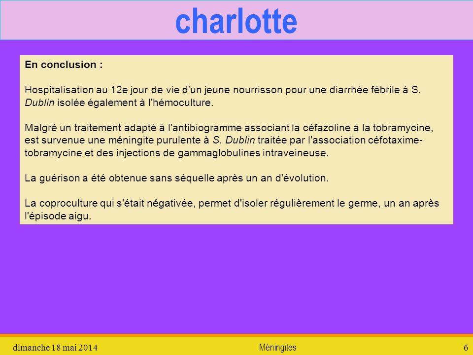 charlotte En conclusion :