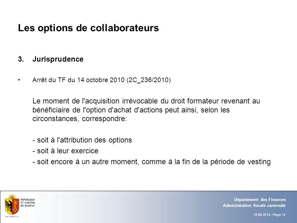 Les options de collaborateurs