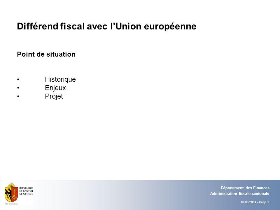 Différend fiscal avec l Union européenne