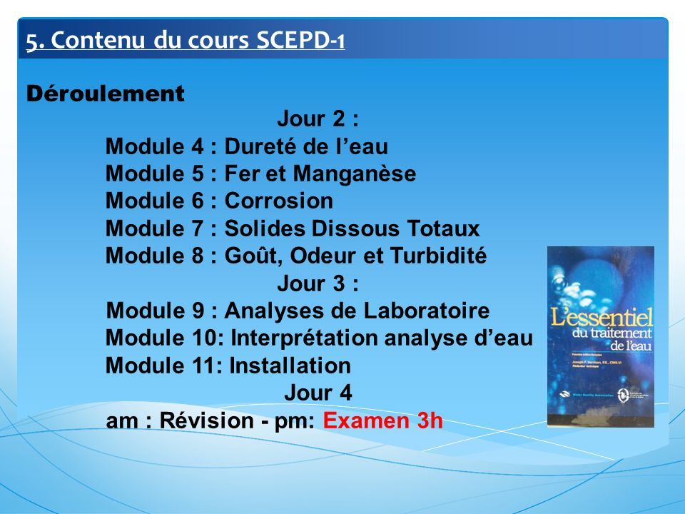 5. Contenu du cours SCEPD-1