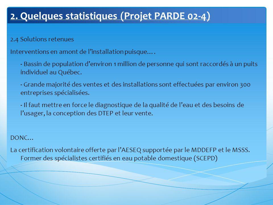 2. Quelques statistiques (Projet PARDE 02-4)