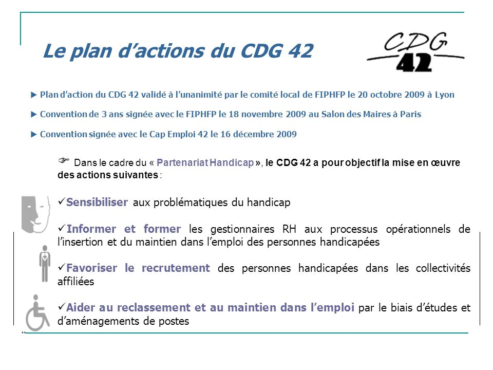 Le plan d'actions du CDG 42