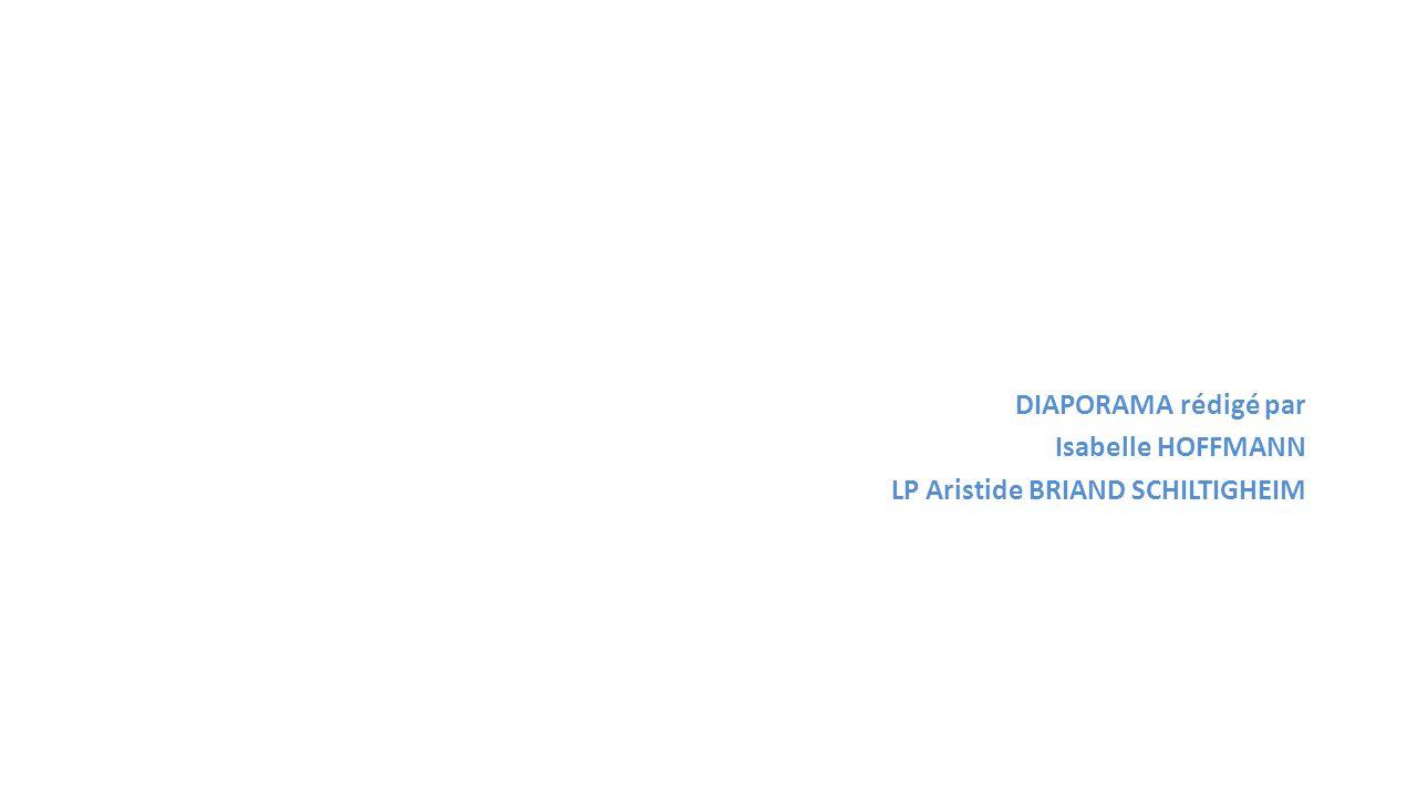 DIAPORAMA rédigé par Isabelle HOFFMANN LP Aristide BRIAND SCHILTIGHEIM