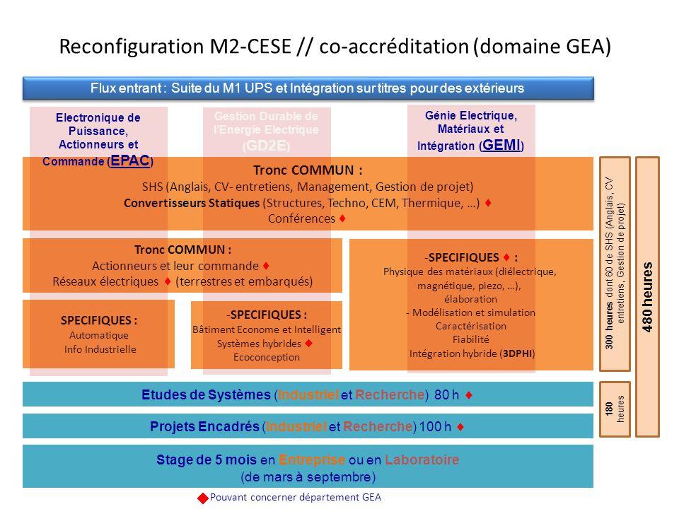 Reconfiguration M2-CESE // co-accréditation (domaine GEA)