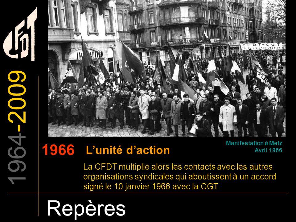 1964-2009 Repères 1966 L'unité d'action