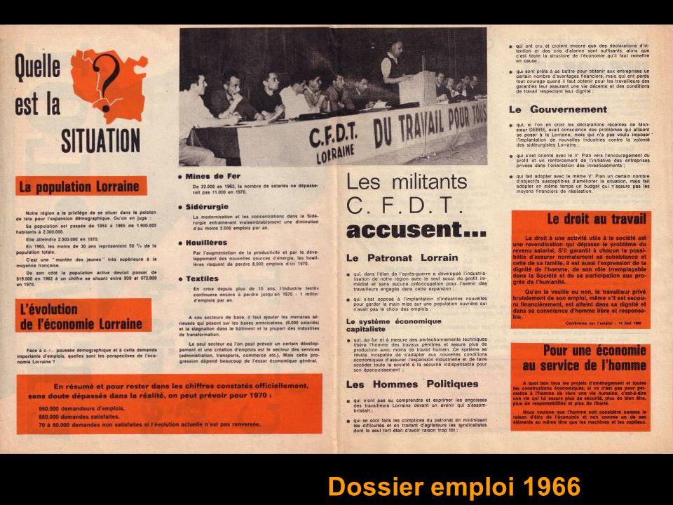 Dossier emploi 1966