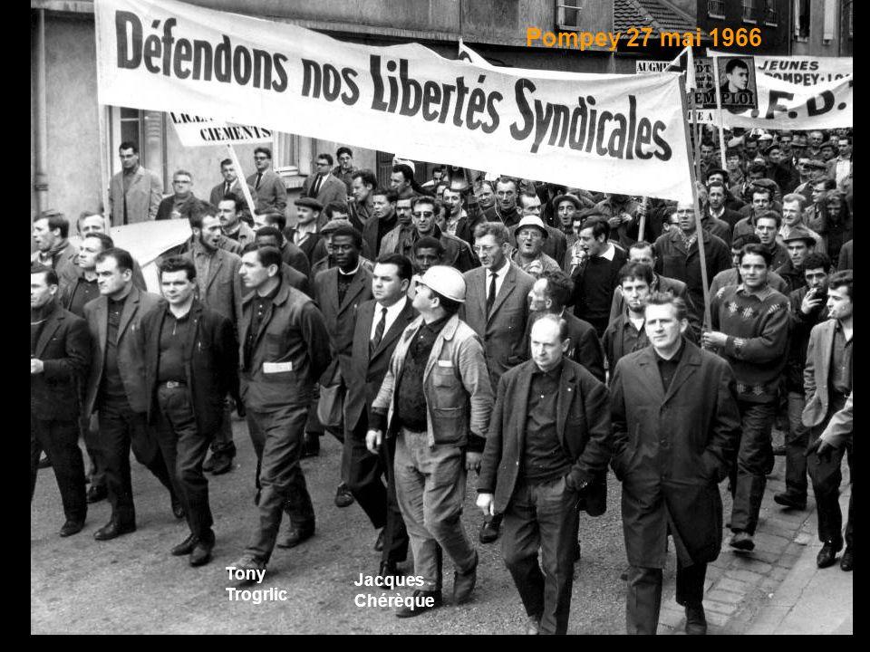 Pompey 27 mai 1966 Tony Trogrlic Jacques Chérèque