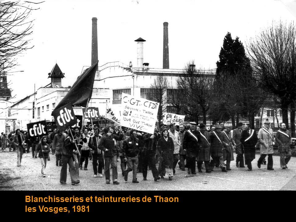 Blanchisseries et teintureries de Thaon les Vosges, 1981