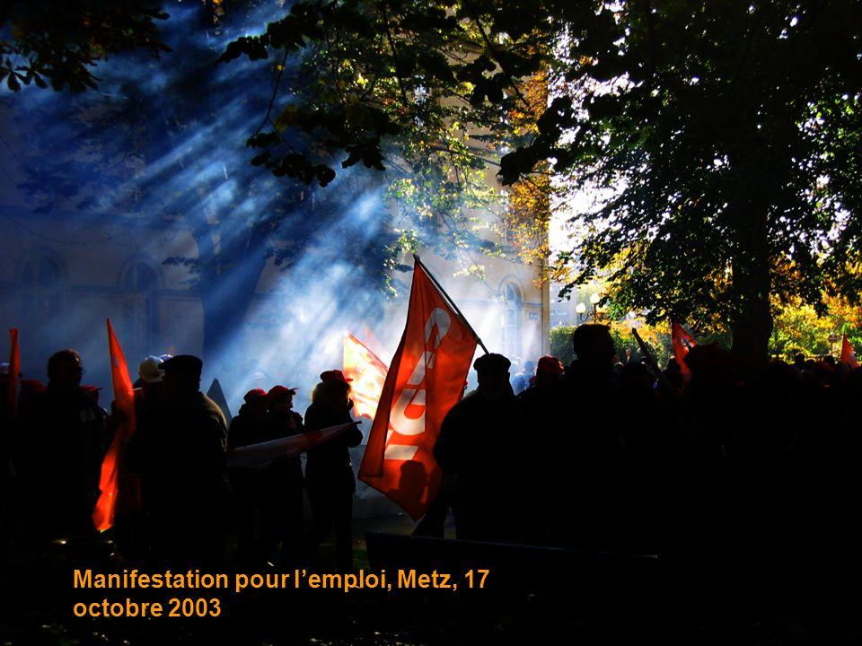 Manifestation pour l'emploi, Metz, 17 octobre 2003