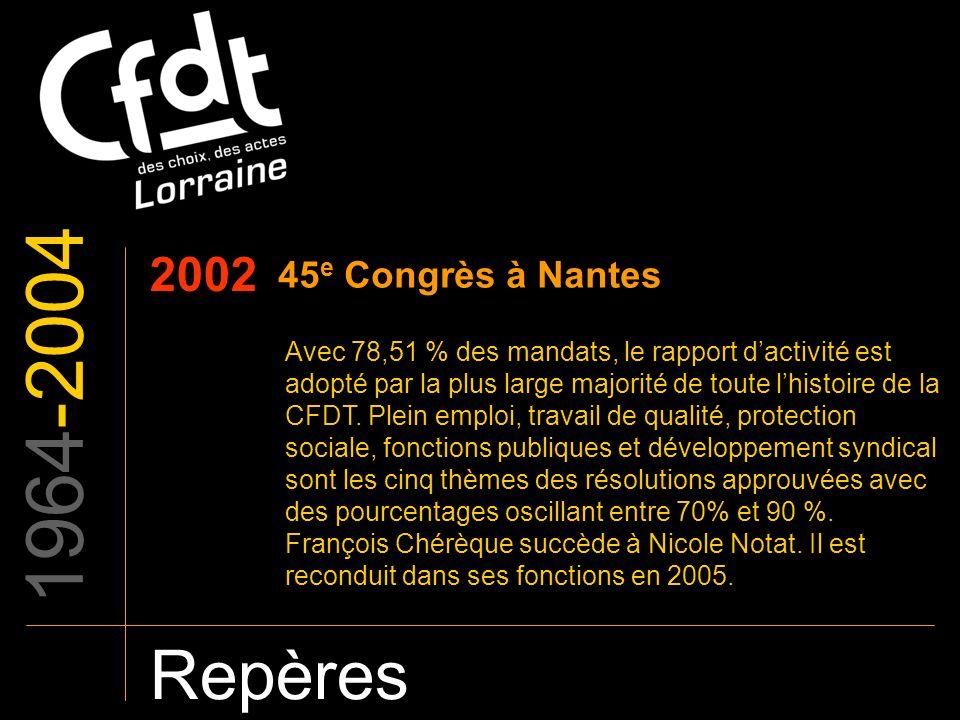 1964-2004 Repères 2002 45e Congrès à Nantes