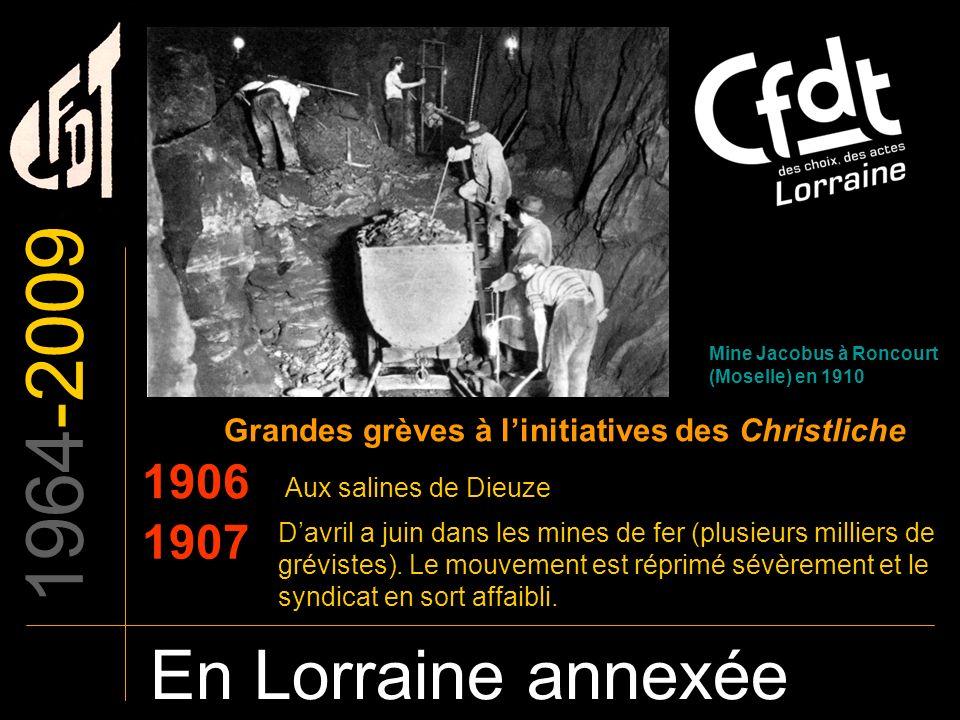 Grandes grèves à l'initiatives des Christliche
