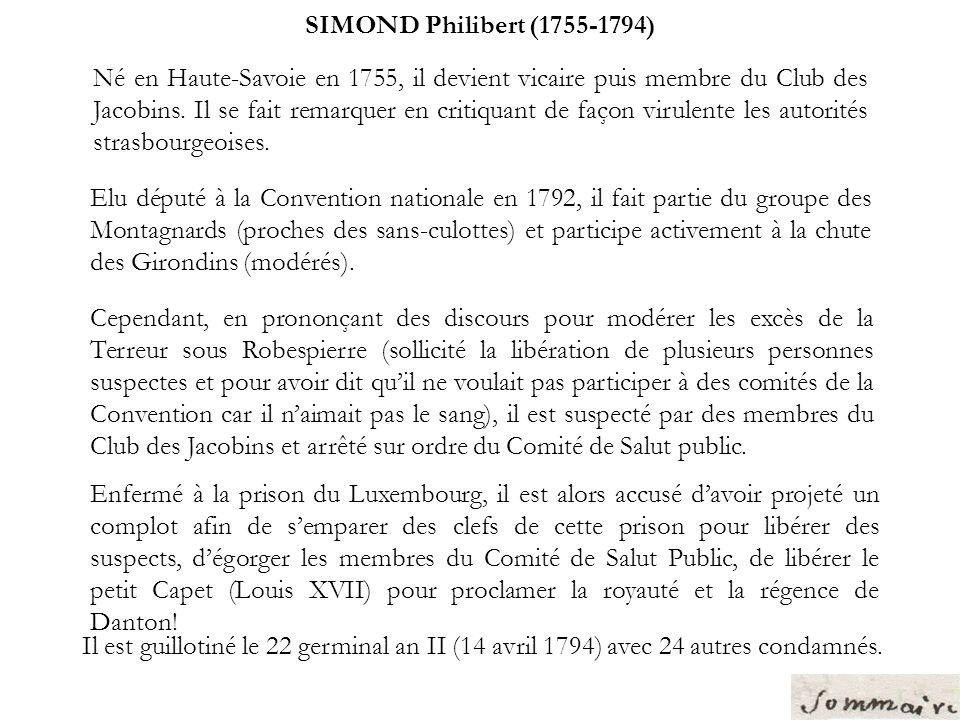 SIMOND Philibert (1755-1794)