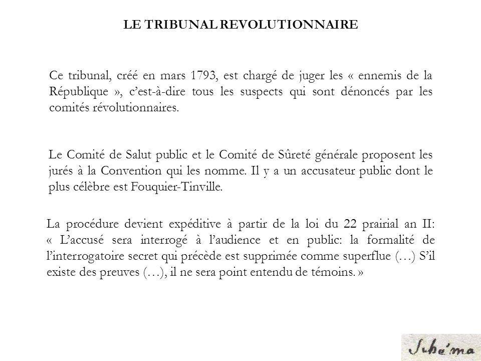 LE TRIBUNAL REVOLUTIONNAIRE