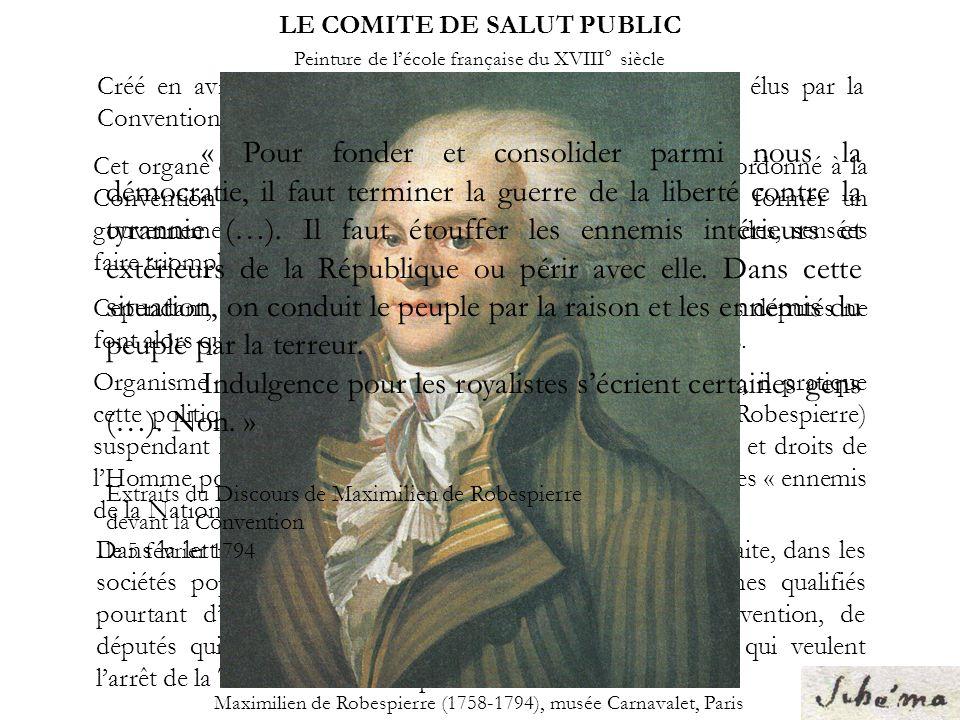 LE COMITE DE SALUT PUBLIC