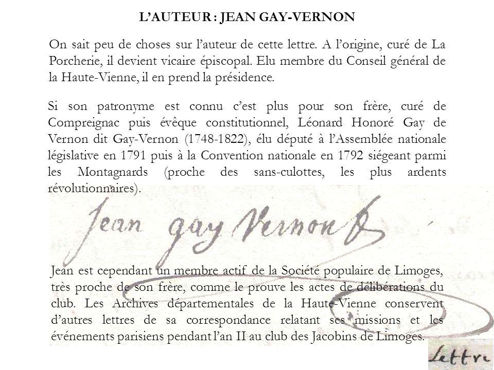 L'AUTEUR : JEAN GAY-VERNON
