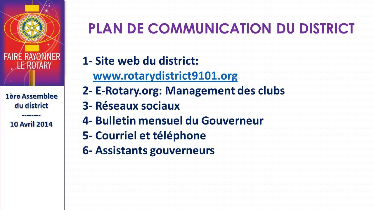PLAN DE COMMUNICATION DU DISTRICT