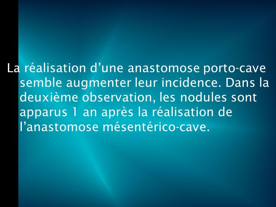 La réalisation d'une anastomose porto-cave semble augmenter leur incidence.