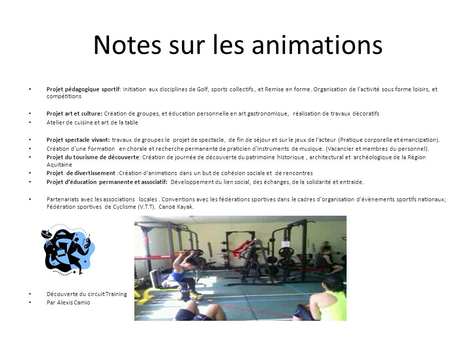 Notes sur les animations