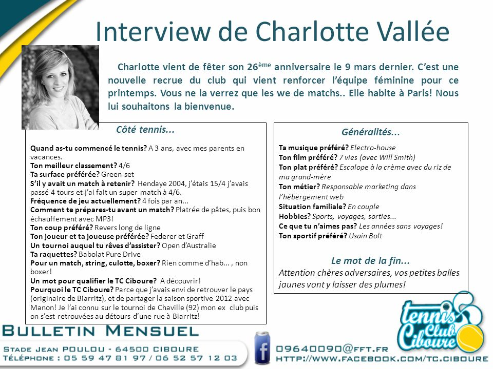 Interview de Charlotte Vallée