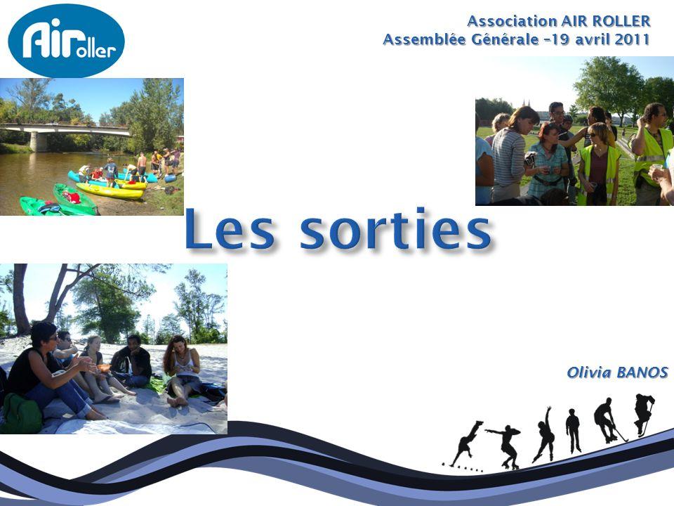 Les sorties Association AIR ROLLER Assemblée Générale –19 avril 2011