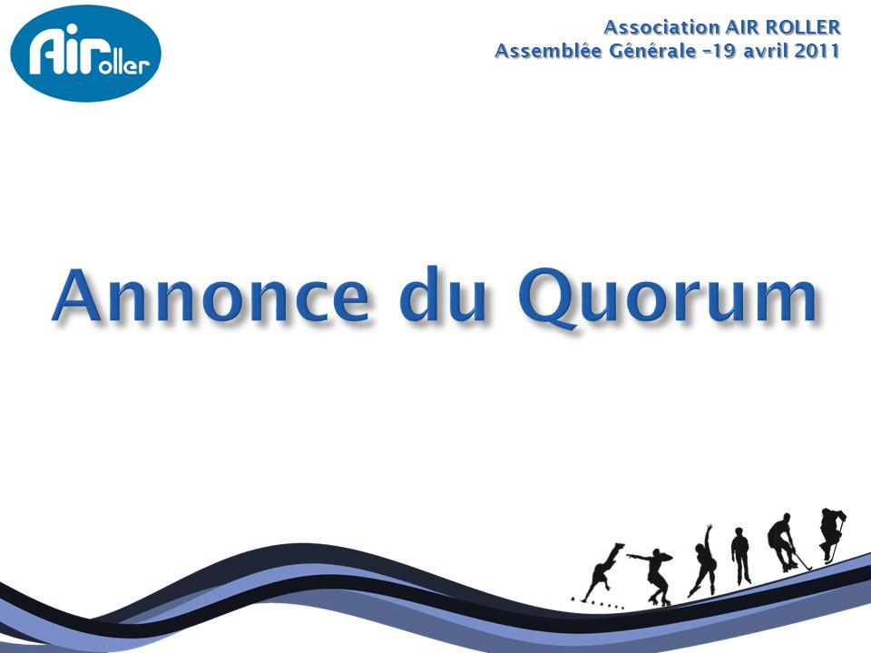Annonce du Quorum Association AIR ROLLER