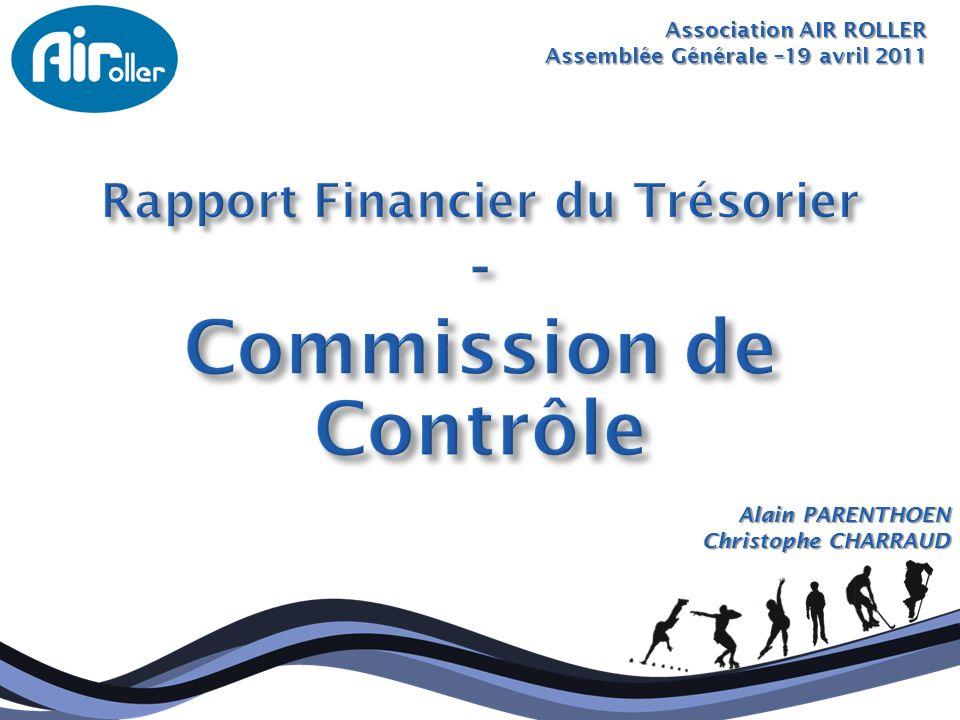 Rapport Financier du Trésorier Commission de Contrôle