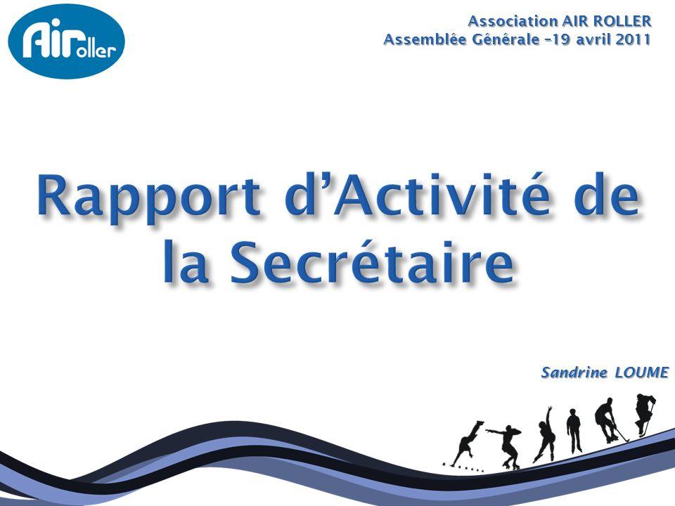 Rapport d'Activité de la Secrétaire