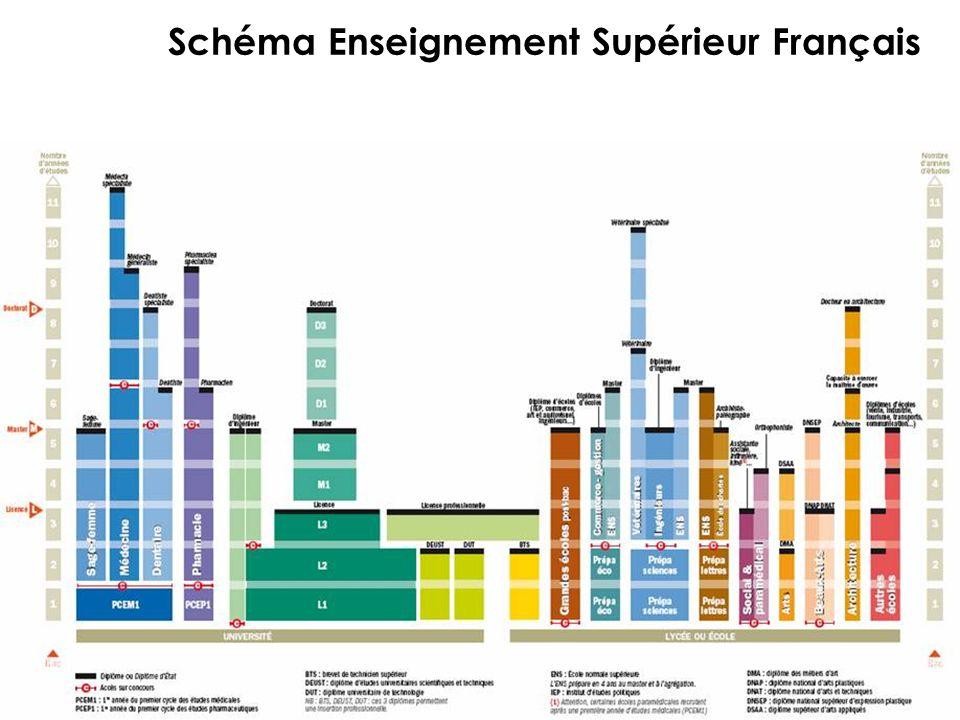 Schéma Enseignement Supérieur Français