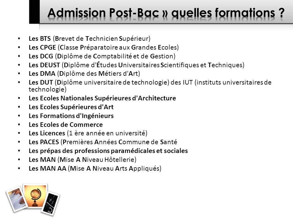 Admission Post-Bac » quelles formations