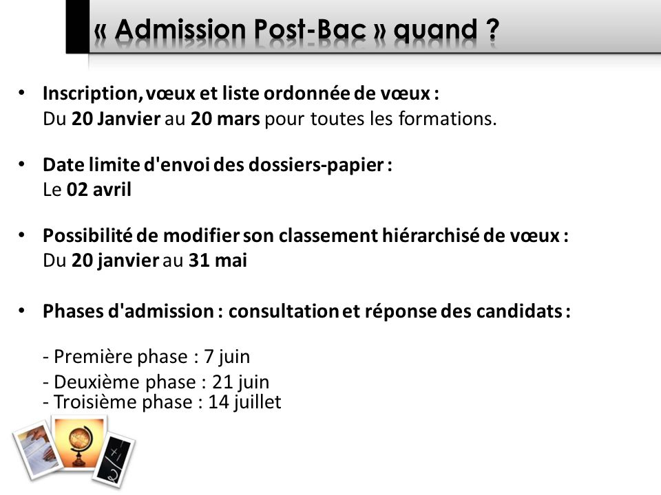 « Admission Post-Bac » quand