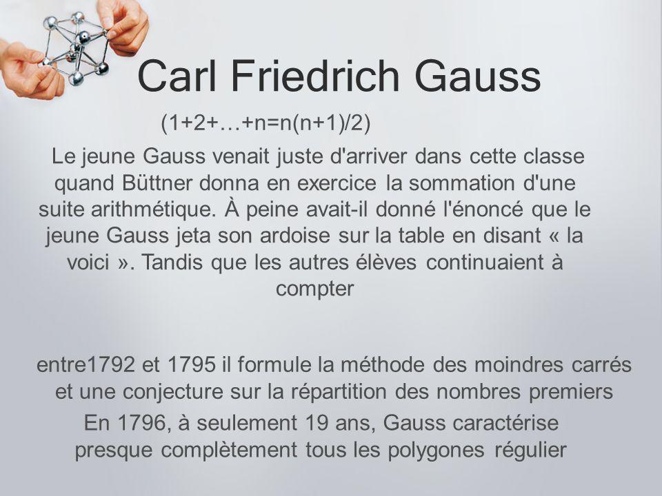 Carl Friedrich Gauss (1+2+…+n=n(n+1)/2)