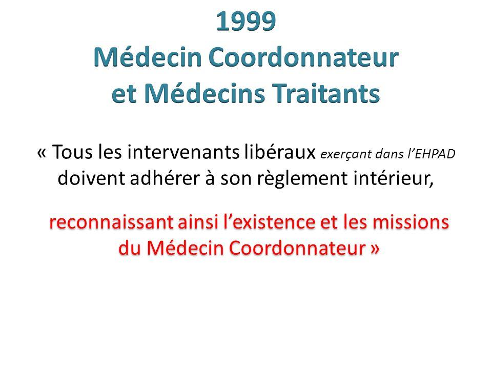 1999 Médecin Coordonnateur et Médecins Traitants