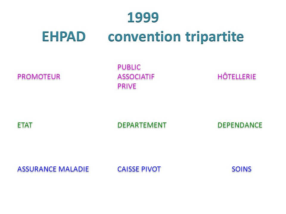 1999 EHPAD convention tripartite