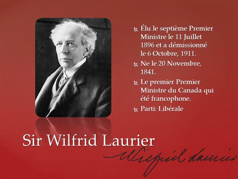 Élu le septième Premier Ministre le 11 Juillet 1896 et a démissionné le 6 Octobre, 1911.