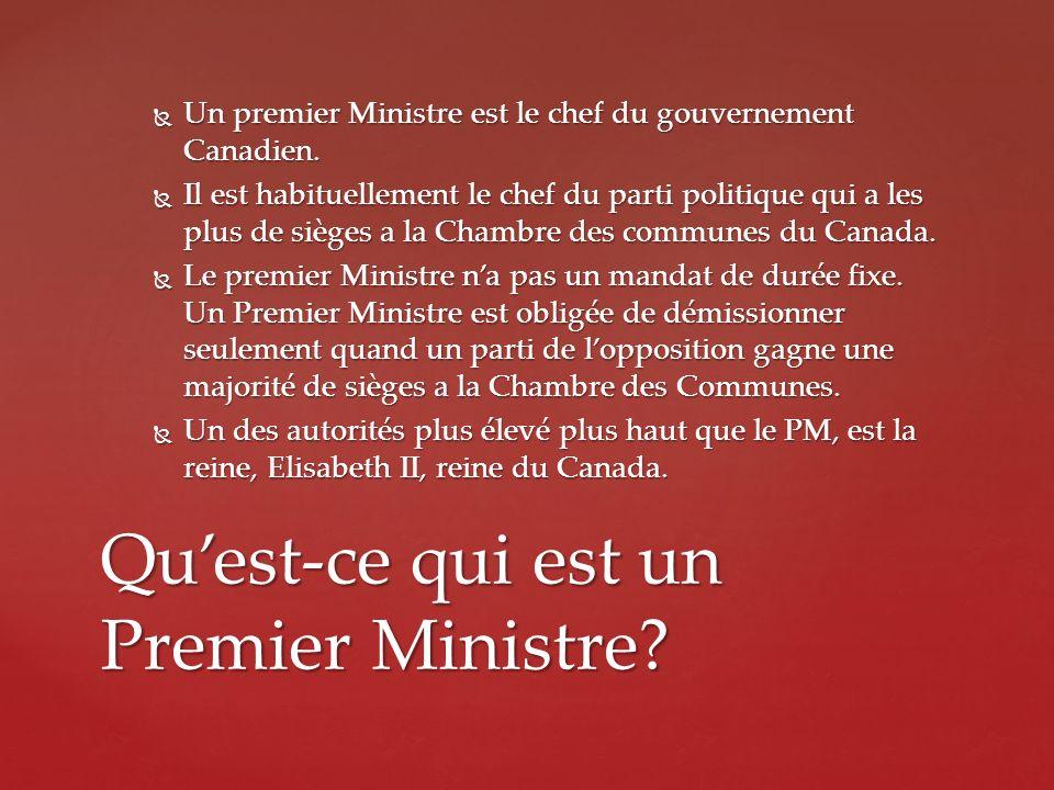 Qu'est-ce qui est un Premier Ministre