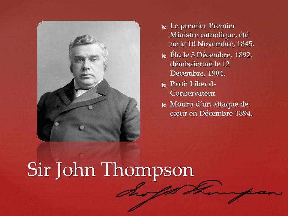 Le premier Premier Ministre catholique, été ne le 10 Novembre, 1845.