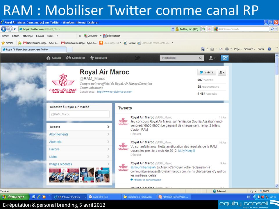 RAM : Mobiliser Twitter comme canal RP