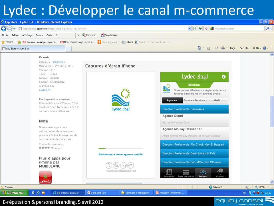 Lydec : Développer le canal m-commerce