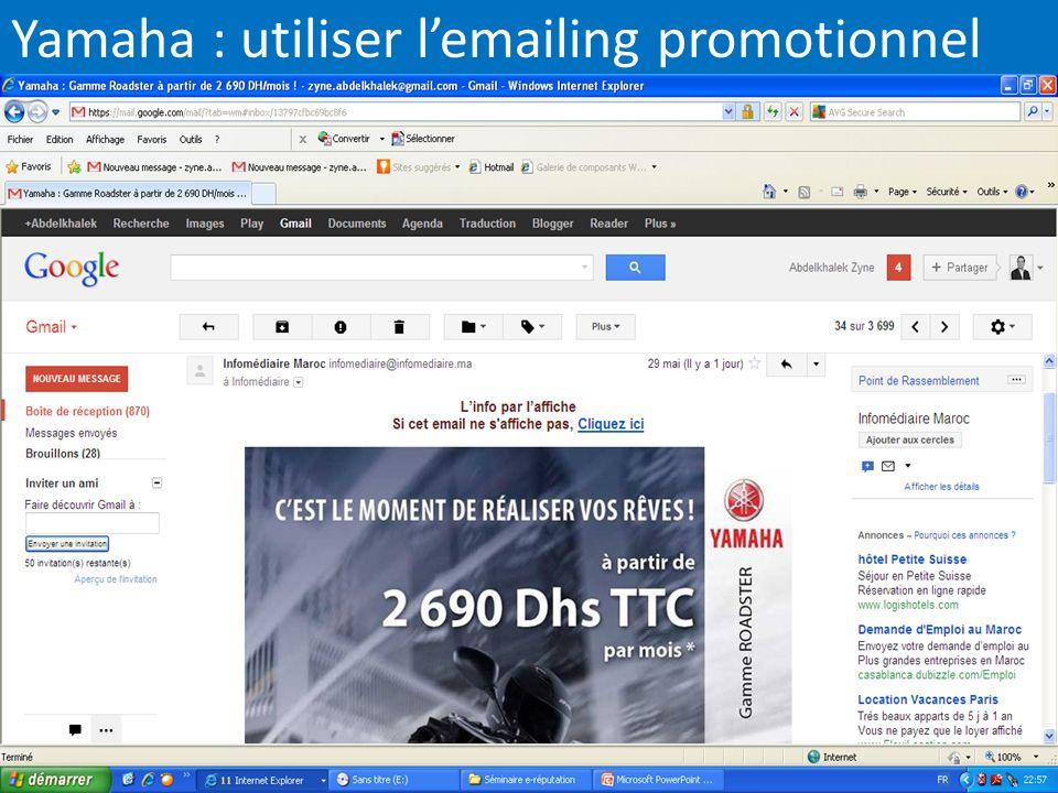 Yamaha : utiliser l'emailing promotionnel