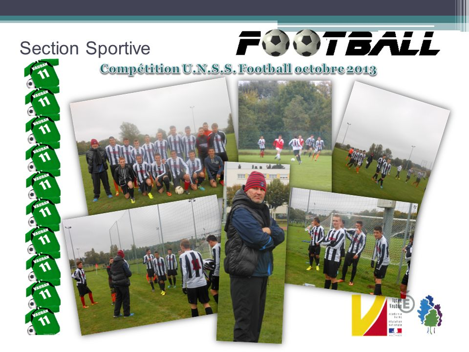 Section Sportive Compétition U.N.S.S. Football octobre 2013