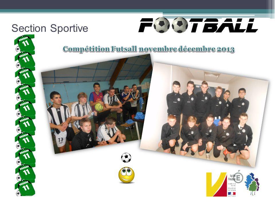 Compétition Futsall novembre décembre 2013