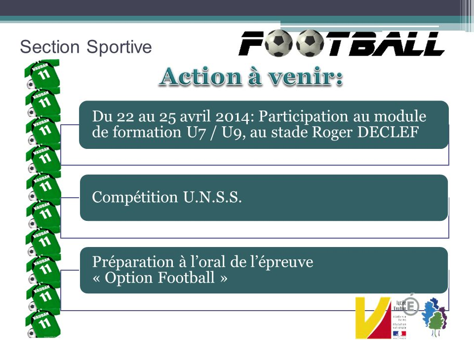 Action à venir: Section Sportive