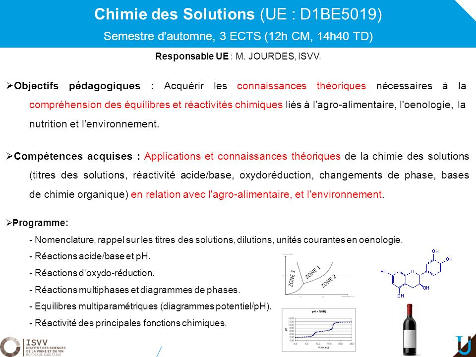 Chimie des Solutions (UE : D1BE5019)