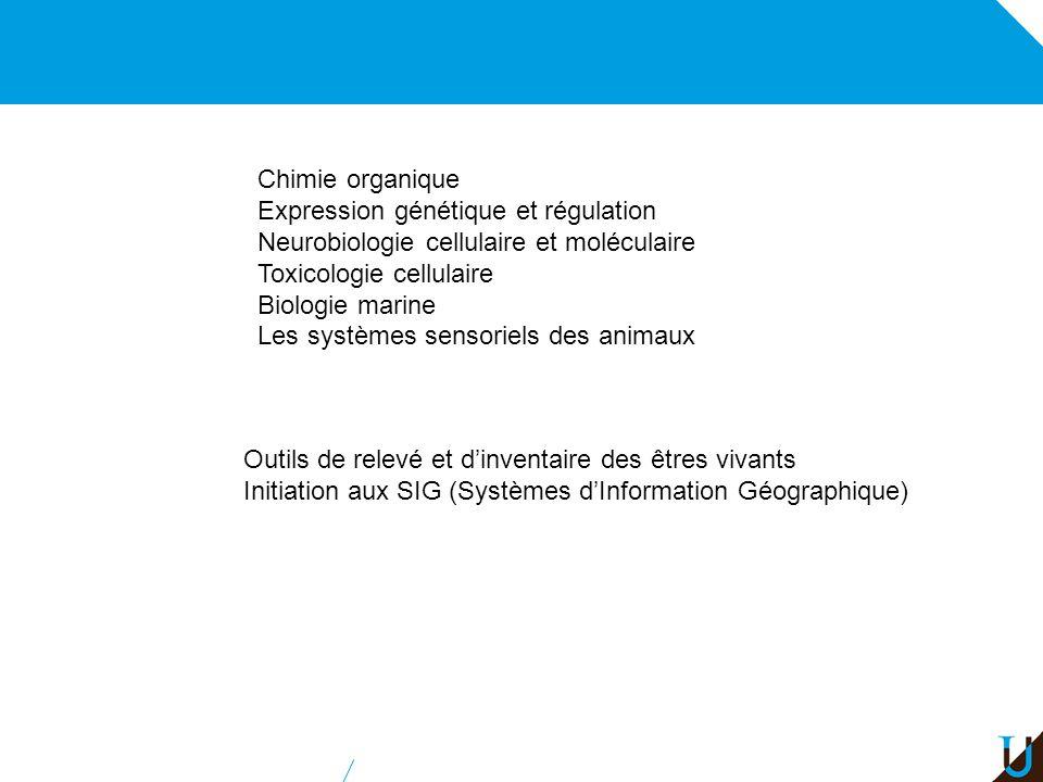 Chimie organique Expression génétique et régulation. Neurobiologie cellulaire et moléculaire. Toxicologie cellulaire.