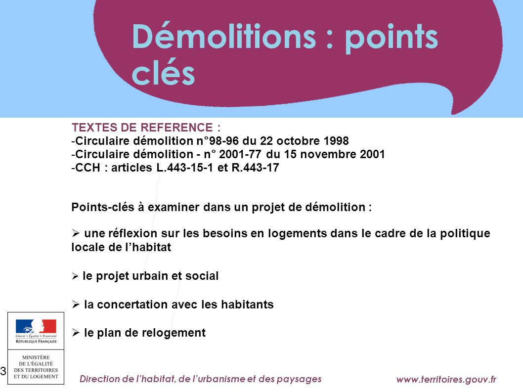 Démolitions : points clés