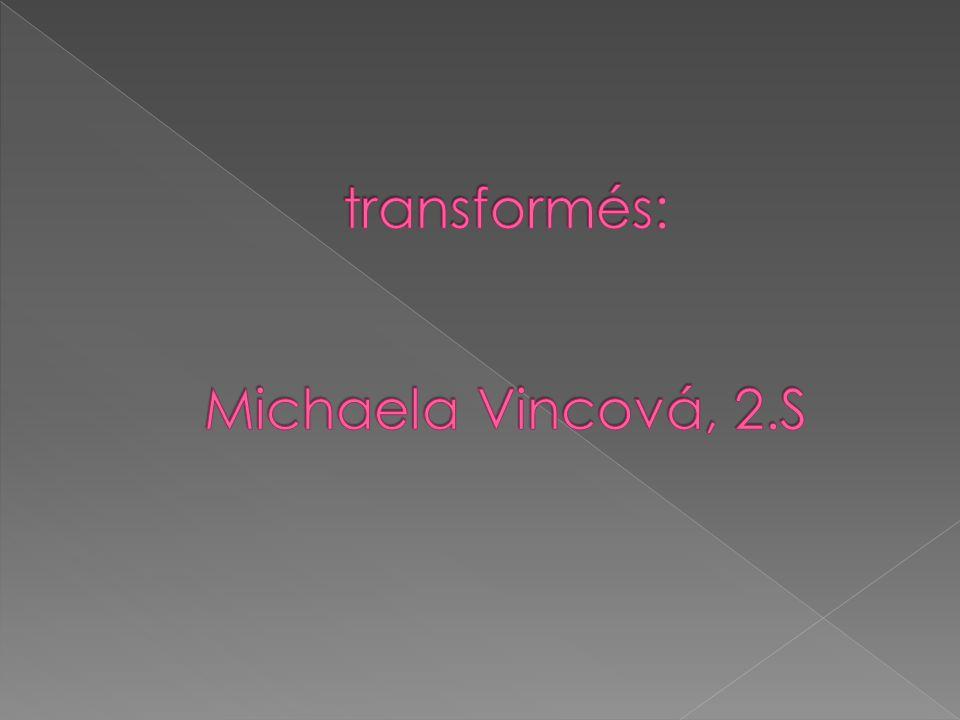 transformés: Michaela Vincová, 2.S