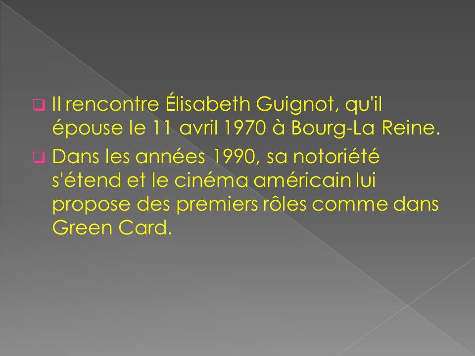 Il rencontre Élisabeth Guignot, qu il épouse le 11 avril 1970 à Bourg-La Reine.