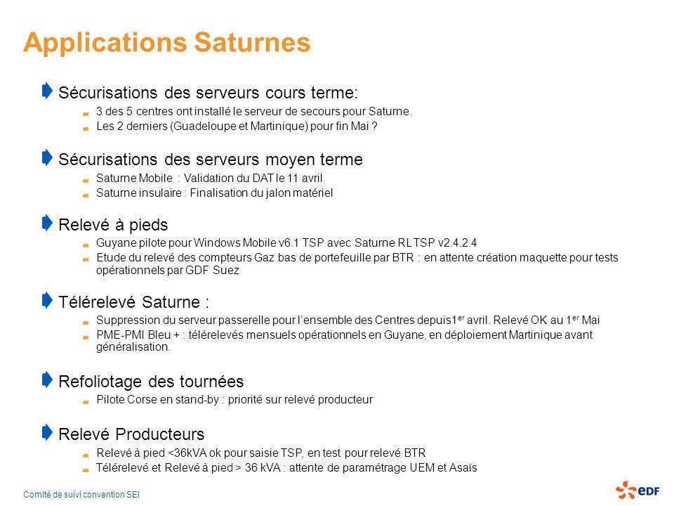 Applications Saturnes